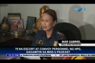 HPG sends 79 escort and convoy personnel for Miss Universe pageant