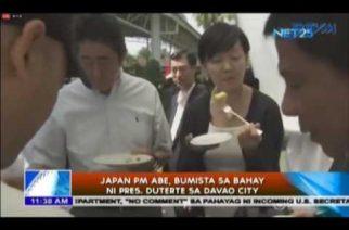 Japan PM Abe, bumista sa bahay ni Pres. Duterte sa Davao City