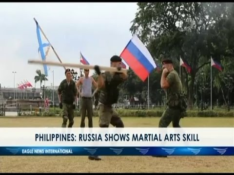 Philippines: Russia shows martial arts skills