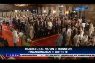 President Duterte leads 1st Vin d' Honneur