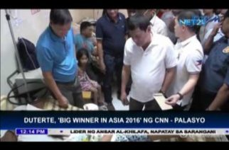 "President Duterte tagged as ""Big winner in Asia 2016"" by CNN"