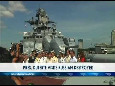 President Duterte visits Russian destroyer