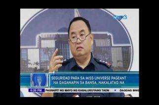 Seguridad para sa Miss Universe pageant na gaganapin sa bansa, nakalatag na