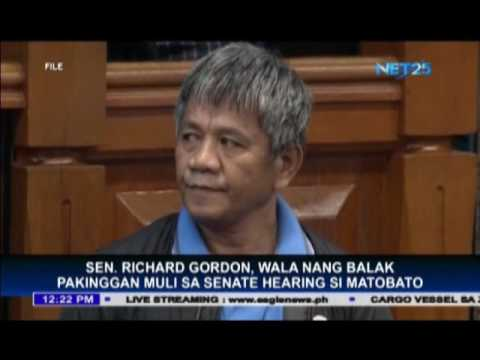 Sen. Richard Gordon, wala nang balak pakinggan muli sa Senate hearing si Matobato