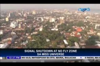 Signal shutdown and no fly zone for Miss Universe