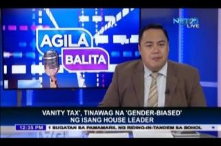 Vanity tax, gender-biased, according to House leader