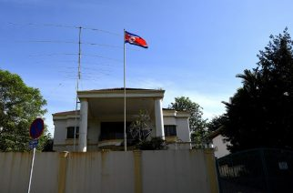 a general view of the North Korean Embassy in Kuala Lumpur on February 18, 2017.   North Korea's ambassador to Malaysia Kang Chol said Pyongyang would reject any results of a post-mortem examination carried out by Kuala Lumpur on the body of Kim Jong-Nam. / AFP PHOTO / MANAN VATSYAYANA