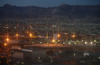 EL PASO, TX - OCTOBER 14: Ciudad Juarez is seen from the Texas side of the U.S.-Mexico border early on October 14, 2016 in El Paso, Texas. The Rio Grande serves as the border between the two countries and through much of West Texas there is no additional fencing.   John Moore/Getty Images/AFP