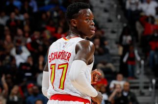 ATLANTA, GA - DECEMBER 07: Dennis Schroder #17 of the Atlanta Hawks reacts after hitting a three-point basket against the Miami Heat at Philips Arena on December 7, 2016 in Atlanta, Georgia. NOTE TO USER User expressly acknowledges and agrees that, by downloading and or using this photograph, user is consenting to the terms and conditions of the Getty Images License Agreement.   Kevin C. Cox/Getty Images/AFP
