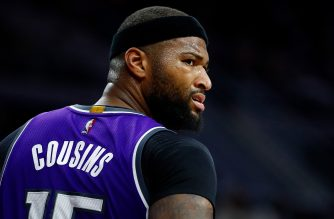 AUBURN HILLS, MI - JANUARY 23: DeMarcus Cousins #15 of the Sacramento Kings looks on while playing the Detroit Pistons at the Palace of Auburn Hills on January 23, 2017 in Auburn Hills, Michigan. Sacramento won the game 109-104. NOTE TO USER: User expressly acknowledges and agrees that, by downloading and or using this photograph, User is consenting to the terms and conditions of the Getty Images License Agreement.   Gregory Shamus/Getty Images/AFP