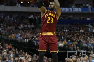 DALLAS, TX - JANUARY 30: LeBron James #23 of the Cleveland Cavaliers takes a shot against the Dallas Mavericks in the second half at American Airlines Center on January 30, 2017 in Dallas, Texas. NOTE TO USER: User expressly acknowledges and agrees that, by downloading and or using this photograph, User is consenting to the terms and conditions of the Getty Images License Agreement.   Ronald Martinez/Getty Images/AFP