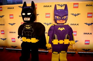 "NEW YORK, NY - FEBRUARY 09: Action Figures and Statues of ""The Lego Batman Movie"" on display for the New York Screening at AMC Loews Lincoln Square 13 on February 9, 2017 in New York City.   Dave Kotinsky/Getty Images/AFP"