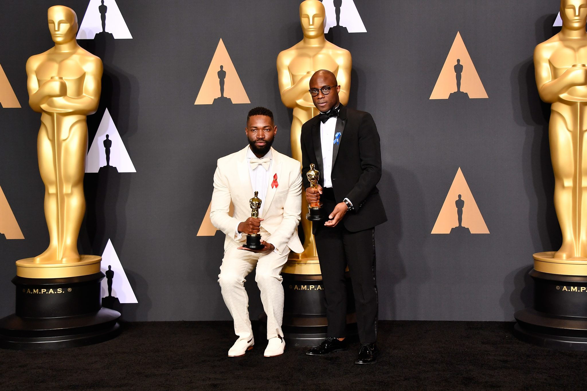 moonlight arrival writers win top writers guild of america awards hollywood ca 26 screenwriter tarell alvin mccraney l and writer