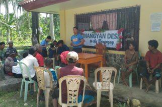 """""""Mangyan Desk to the Barangay"""" isinagawa ng PNP"""