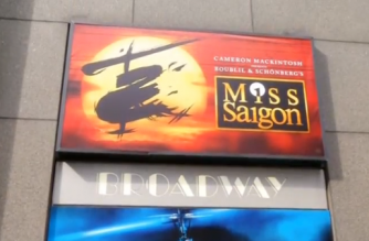 """""""Miss Saigon"""" star says the play's themes of """"empathy, strength, resolve and love"""" are especially relevant today. (Photo grabbed from Reuters video)"""