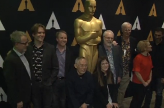 The Oscar nominees in the Best Animated Feature category at the Oscars gathered at AMPAS on Thursday (February 23) where they discussed how and why animation strikes a chord with audiences. (Photo grabbed from Reuters video)