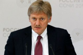 Kremlin spokesman Dmitry Peskov tells a conference call with reporters that an American media report on Donald Trump's presidential campaign having contacts with Russian intelligence officials is not based on any facts and denies allegations Russia has violated U.S. missile treaty.  (photo from Reuters video)