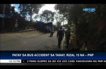 Bus accident in Tanay, Rizal records 15 dead