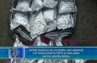 Dating pangulo ng Colombia, may mensahe kay Pangulong Duterte sa paglaban ng PHL kontra droga