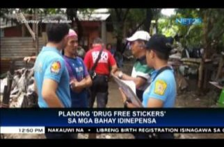"""DILG defends plan to post """"drug-free"""" stickers on houses with no drug involvement, says it's a nonviolent approach"""