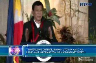 Duterte tells AMLC to release info on his net worth, but Trillanes calls it bluff