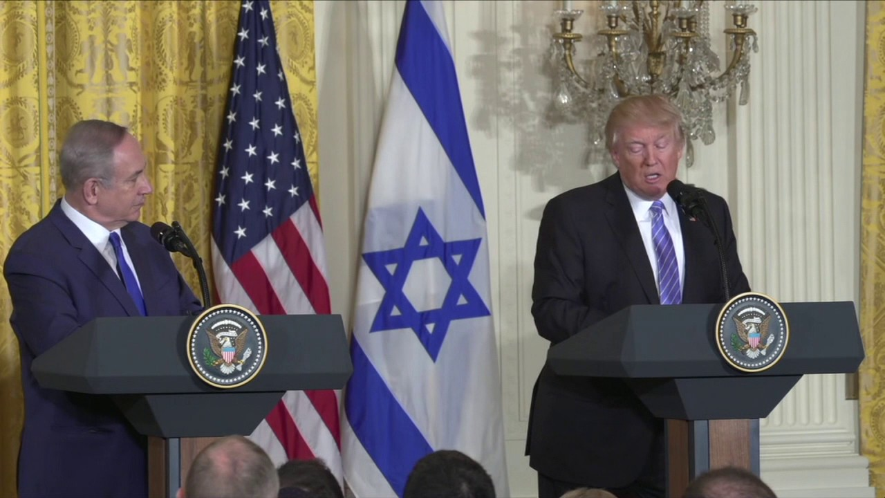 """Featured video:  Trump hails """"unbreakable"""" bond between US and Israel"""