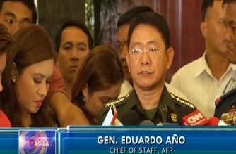 Armed Forces of the Philippines (AFP) chief of staff Gen. Eduardo Ano