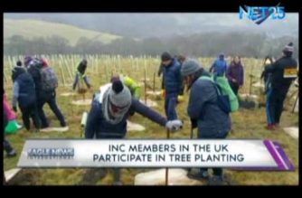 Iglesia Ni Cristo members participate in tree planting in UK amid wintry weather