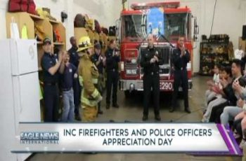 INC members hold appreciation day for firefighters and police officers in southwest California