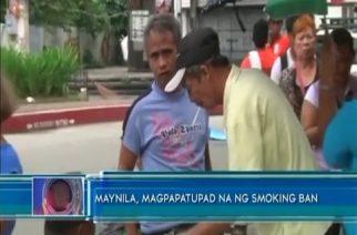 Maynila, magpapatupad na ng smoking ban