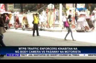 MTPB starts distribution of body cameras for traffic enforcers