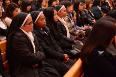 Missionary nuns of the Roman Catholic Church, attend the Iglesia Ni Cristo evangelical mission held at the INC's local congregation in Rome, Italy on Saturday, February 18, 2017. (Eagle News Service)