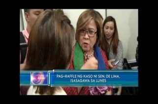 PNP chief offers De Lima use of PNP Custodial Center;  raffle of drug cases seen on Monday