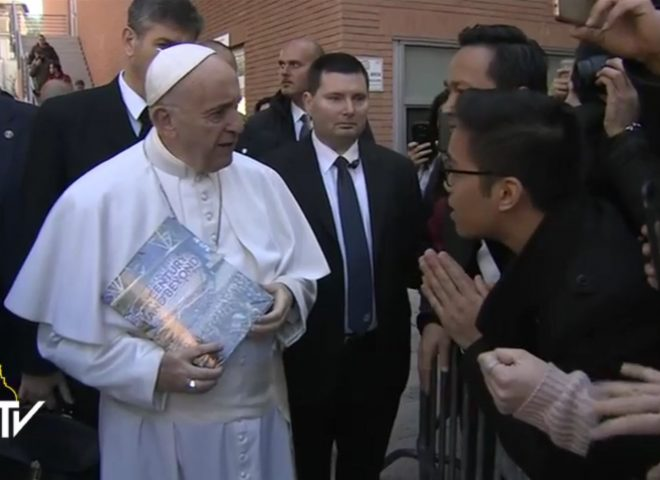 Pope Francis speaks to students in Rome, gets an invite for INC evangelical mission