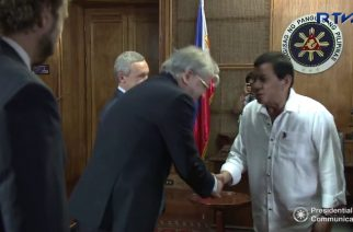 President Duterte welcomes Deputy Chairman of Russian Federation, Sen. Klimov and H.E. Igor Khovaev in Malacañang