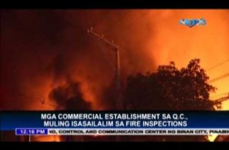 QC orders fire safety inspections of commercial establishments