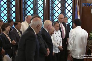 US Ambassador and directors of US-Phil Society pay courtesy call to President Duterte in Malacañang