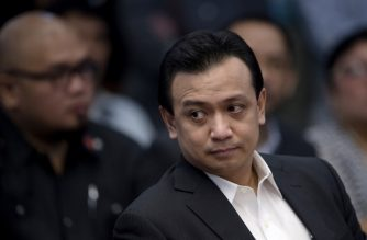 (File photo) Senator Antonio Trillanes attends a senate hearing in Manila on September 15, 2016. / AFP PHOTO / NOEL CELIS