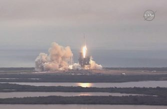 "FILE PHOTO: This still image taken from NASA TV, shows the the SpaceX Falcon 9 rocket, carrying a Dragon cargo capsule, launching from the Kennedy Space Center Launch Complex 39A in Florida on February 19, 2017. The current resupply mission is the 10th of up to 20 planned trips to the International Space Station. The unmanned cargo capsule is packed with more than 5,000 pounds (2,267 kilograms) of food, gear and science experiments. Launchpad 39A was used for the Apollo and space shuttle launches. / AFP PHOTO / NASA / HO / RESTRICTED TO EDITORIAL USE - MANDATORY CREDIT ""AFP PHOTO / NASA"" - NO MARKETING NO ADVERTISING CAMPAIGNS - DISTRIBUTED AS A SERVICE TO CLIENTS"