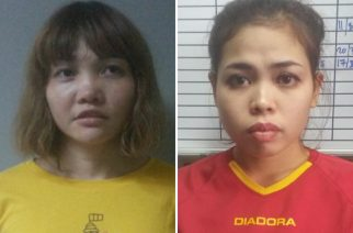 """This combination of file handout pictures released by the Royal Malaysian Police in Kuala Lumpur on February 19, 2017 shows suspects Doan Thi Huong of Vietnam (L) and Siti Ashyah of Indonesia (R), who were detained in connection to the February 13 assassination of Kim Jong-Nam, the half brother of North Korean leader Kim Jong-Un. The two women arrested over the nerve agent assassination of Kim Jong Nam are to be charged with his murder, Malaysia said on February 28, as North Korea sent a senior diplomat to retrieve the body from the morgue. / AFP PHOTO / Royal Malaysian Police / Handout / -----EDITORS NOTE --- RESTRICTED TO EDITORIAL USE - MANDATORY CREDIT """"AFP PHOTO / Royal Malaysian Police"""" - NO MARKETING - NO ADVERTISING CAMPAIGNS - DISTRIBUTED AS A SERVICE TO CLIENTS"""