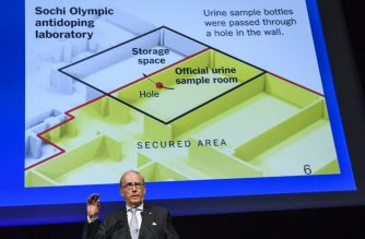 "Canadian lawyer Richard McLaren, who produced a report for the World Anti-Doping Agency (WADA) which claimed that Russia had orchestrated state-sponsored doping at the 2014 Sochi Winter Olympics, addresses the WADA Annual Symposium in Lausanne on March 13, 2017. Russia still has ""significant work"" before its scandal tainted anti-doping operation regains global recognition, WADA chief Craig Reedie warned. The World Anti-Doping Agency chief said Russia's national agency had not proved it was shielded against ""outside interference."" / AFP PHOTO / Fabrice COFFRINI"