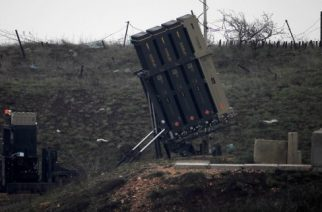 A general view taken on March 17, 2017 shows Israel's Iron Dome defence system, designed to intercept and destroy incoming short-range rockets and artillery shells, deployed in the Israeli-occupied Golan Heights near the Israel-Syria border on March 17, 2017. Israeli warplanes struck several targets in Syria, prompting retaliatory missiles launches, in the most serious incident between the two countries since the Syrian civil war began six years ago. / AFP PHOTO / JALAA MAREY