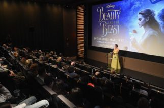 NEW YORK, NY - MARCH 13: Emma Watson, who stars as Belle in Disney's Beauty and the Beast, shares her love of books with children from The NY Film Society for Kids at Lincoln Center's Francesca Beale Theater on March 13, 2017 in New York City.   Jamie McCarthy/Getty Images for Walt Disney Studios/AFP