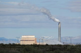 DELTA, UT - MARCH 28: The coal-fired Intermountain Power Plant is seen on March 28, 2016 outside Delta, Utah. The IPP generates more then 13 million megawatt hours of coal-fired energy each year to Utah and Southern California.   George Frey/Getty Images/AFP