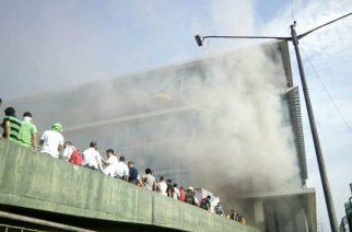 Trinoma Mall fire reaches second alarm, MRT-3 continues train operations