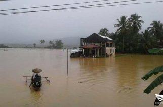 LPA na nararanasan sa Surigao del Sur nagdulot ng mga pagbaha