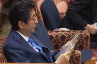 Japanese Prime Minister Shinzo Abe denies allegations of donations made by him or his wife to the principal of a scandal-hit school.(photo grabbed from Reuters video)