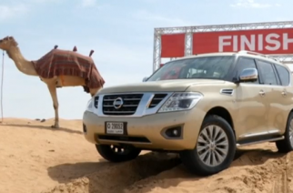 Japanese automaker Nissan has developed a measurement of the performance ability of SUV cars on sand, which they are calling Desert Camel Power. (Photo grabbed from Reuters video)