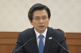 South Korea's acting President and Prime Minister, Hwang Kyo-ahn, convenes a National Security Council (NSC) meeting after the impeachment ruling and says the country should be ready for possible provocations from the North.  (Photo grabbed from Reuters video)