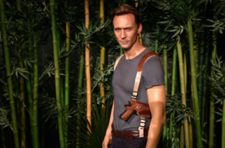 Madame Tussauds recreates Skull Island with wax figures of Tom Hiddleston and King Kong -- the largest animatronic figure in company history.(photo grabbed from Reuters video)